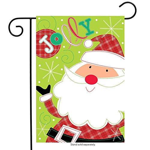 Christmas Applique Flag - Briarwood Lane Jolly Santa Christmas Applique Garden Flag Holiday 12.5
