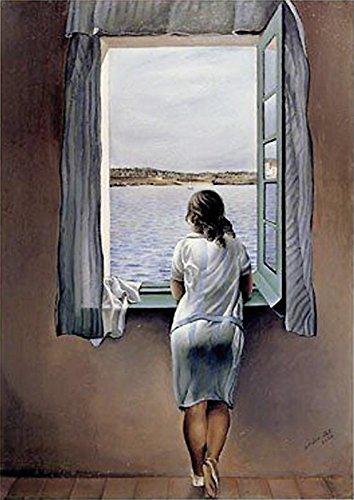 Poster Salvador Dali Muchacha en la vent