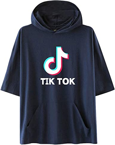 TIK TOK Estampado Camiseta con Capucha para Niños Adolescentes Sudaderas de Sport Manga Corta Blusa Casual Verano Pullover Hip Pop T-Shirt Tops: Amazon.es: Ropa y accesorios
