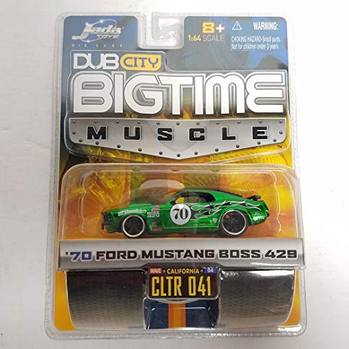 '70 Ford Mustang Boss 429 Green Color 2005 Dub City Big Time Muscle no. 041