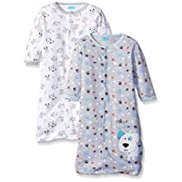 BON BEBE Boys' Paws Assorted 2 Pack Wearable Blanket, Puppy Dog Blues, 0-6 Mo...