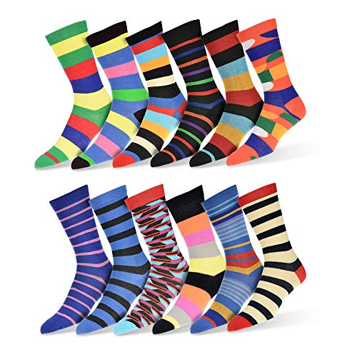 (Robert Shweitzer Mens Fun Funky and Colorful Patterned Dress Socks with Cool and Crazy Designs -