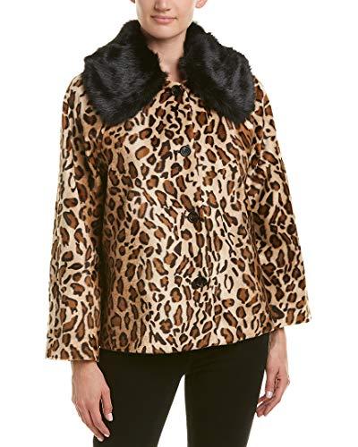 Coat Print Velvet (Velvet Women's Windy Jacket, Leopard, Medium)