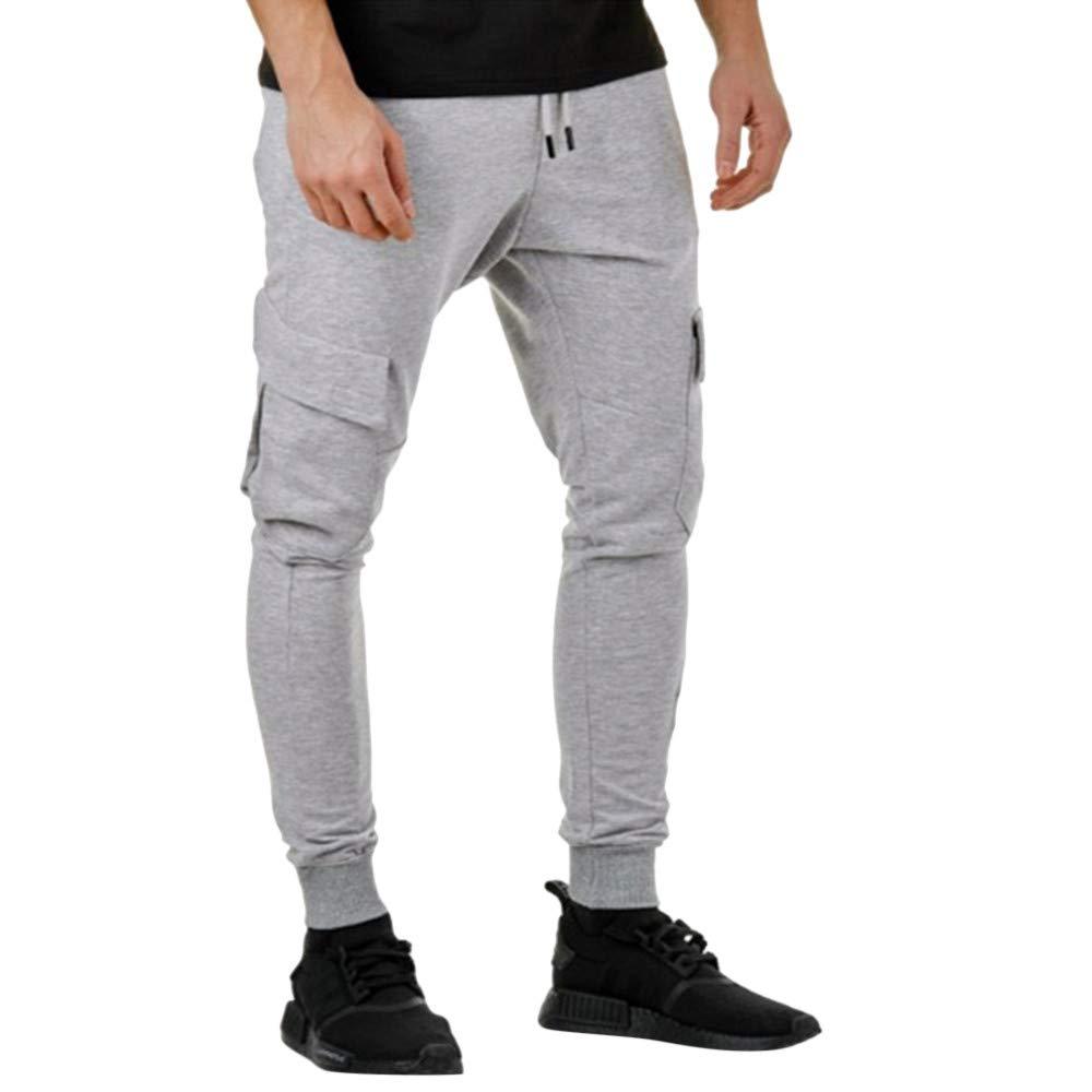 Tomatoa Men Casual Sweatpants, Combat Cargo Work Trousers Jogger Sportswear Autumn Winter Cotton Hip Hop Sports Trousers Joggers Cargo Pants
