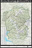"""Rocky Mountain National Park 24"""" X 36"""" Wall Map"""