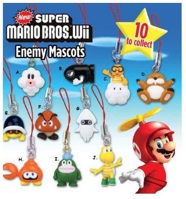 Super Mario Bros: Wii Enemy Mascots Phone Chamrs Set of 10 (Super Mario Mascot)