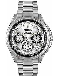 Citizen Mens CC9010-74A Satellite Wave Analog Display Japanese Quartz Silver Watch
