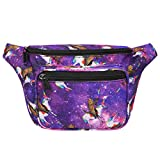 HDE Fanny Pack [80's Style] Waist Pack Outdoor Travel Crossbody Hip Bag(Cats & Unicorns)...