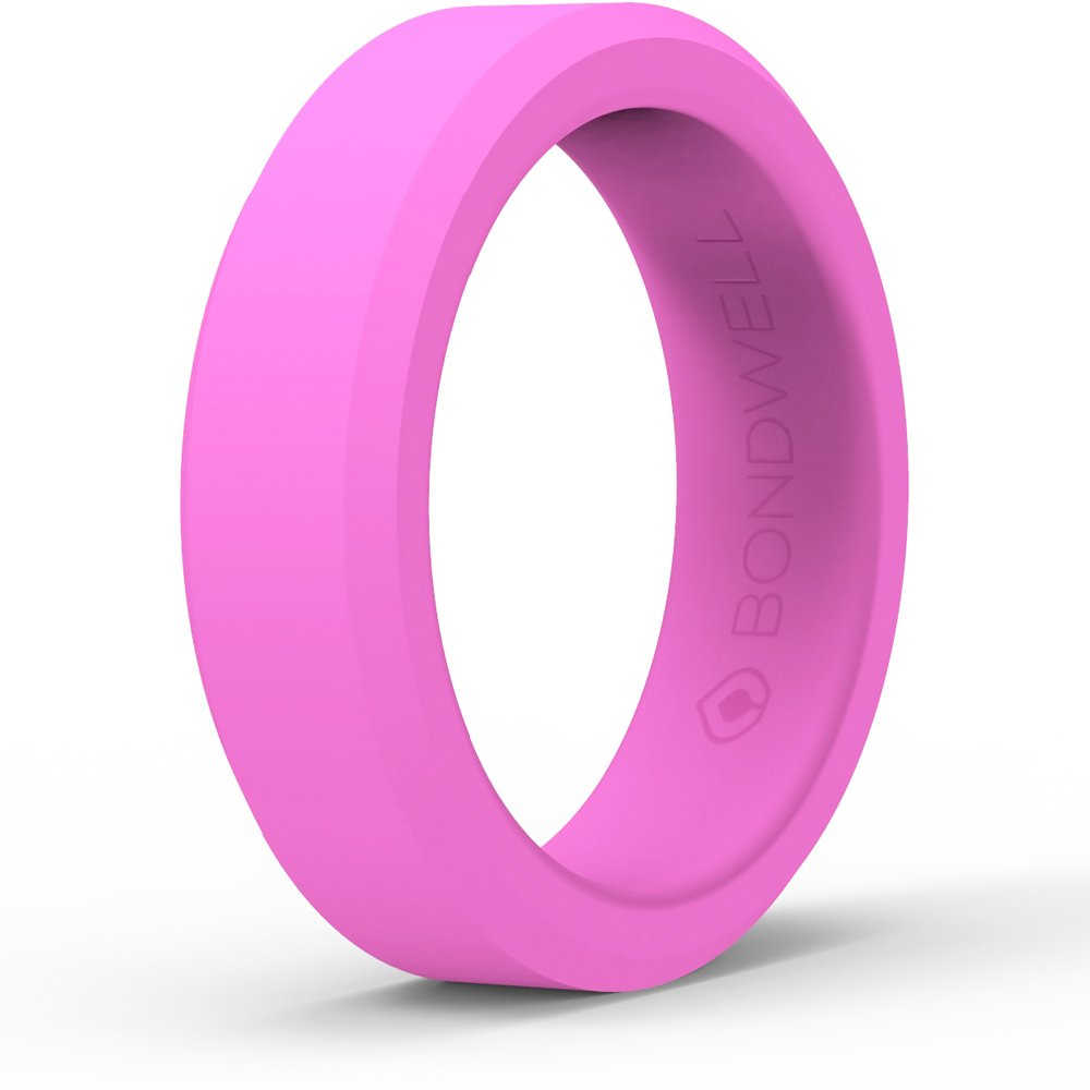 Amazon.com: Bondwell BEST SILICONE WEDDING RING FOR WOMEN Protect ...