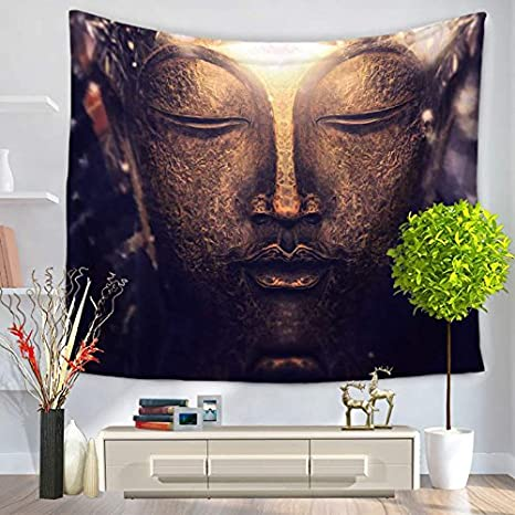 Jeteven Boho Tapestry Wall Hanging Mandala Indian Tapestries Hippie Print Tapestry Picnic Beach Sheet Table Cloth Black and White 165 x 148 cm