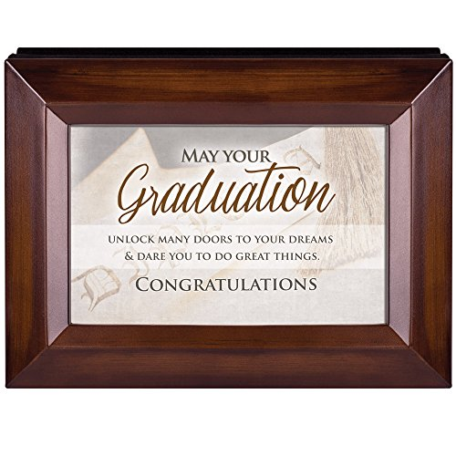 Your Graduation Congratulations Rich Walnut Wood 4 x 6 Table Top Photo Frame Picture Album by Cottage Garden (Image #1)