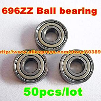 10pcs 696ZZ 6x15x5mm Ball Bearings Double Shielded Miniature Bearings