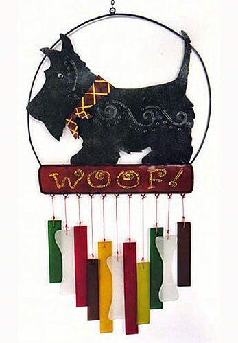 KensingtonRow Home Collection Wind Chimes – Scottish Terrier Wind Chime – Scotty Windchime – Wind Chimes