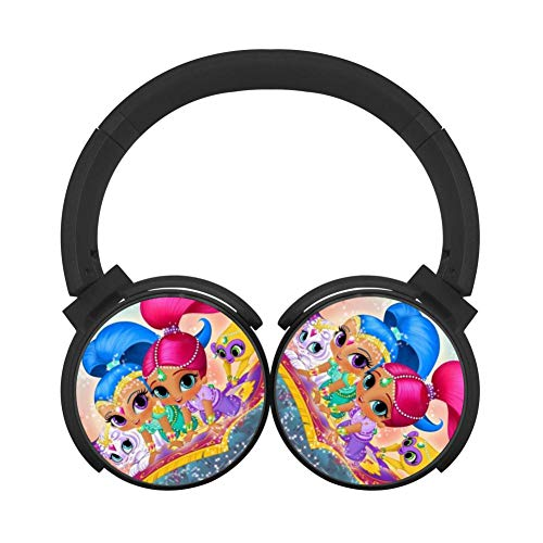 Shimmer and Shine Wireless Bluetooth Lightweight Over-Ear Earphones Adjustable Hi-Fi Headphones Foldable Sound Proof Headset Best Gift for Teens Adults