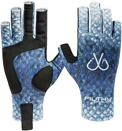 Filthy Anglers 軽量釣り用グローブ UV保護 UPF50+ 日差しグローブ メンズ レディース カヤック ハイキング パドリング 運転 カヌー ボート用
