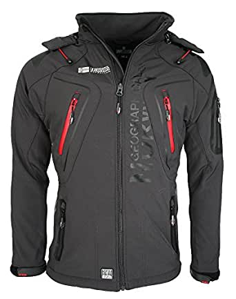 Geographical Norway Hombre Softshell Funciones Chaqueta Para Exterior impermeable - gris oscuro, hombre, S