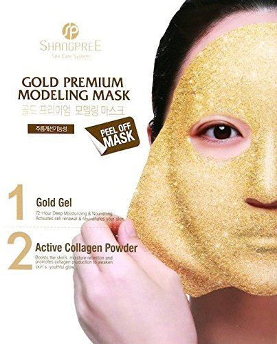Shangpree – Gold Premium Modeling Mask – Anti Aging Mask with Gold & Collagen – Moisturising & Rejuvenating Masks For Sale