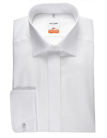 Olymp Hemd Gala weiss, Einfarbig, Größe 39 - M