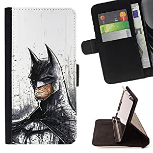 For Samsung Galaxy S5 Mini, SM-G800 Serious Bat Superhero Leather Foilo Wallet Cover Case with Magnetic Closure