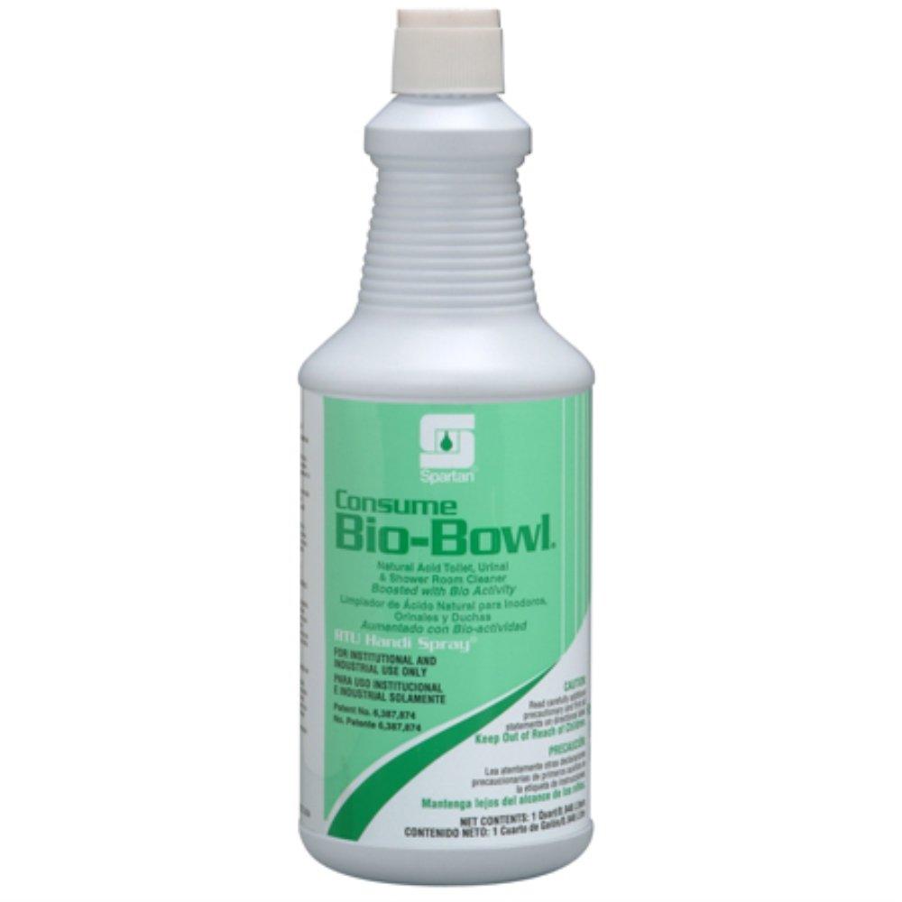 Spartan RTU Consume Bio-Bowl Bathroom Cleaner, Quarts, Case of 12