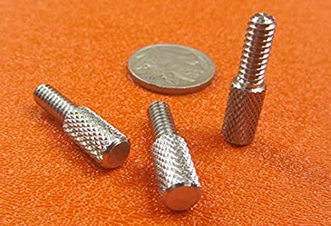 Low-Profile 18-8 Stainless Steel Thread Size #10-24 FastenerParts Knurled-Head Thumb Screw
