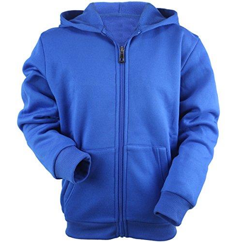 Evrimas Youth Kids Lightweight Fleece Hoodie for Boys Full Zip Long Sleeve Child Spring Thin Outdoor Sweatshirts(Royal Blue,14) by Evrimas