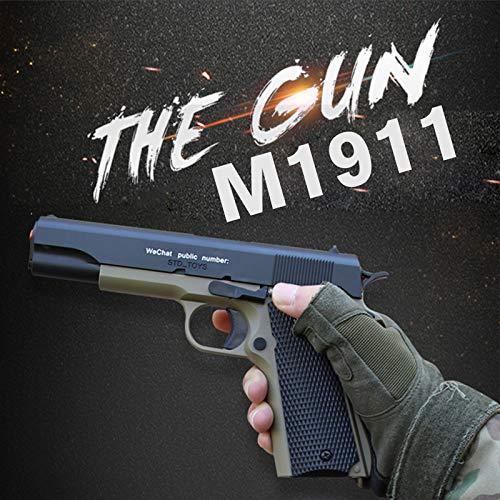 価格は安く シミュレーション M1911 M1911 B07Q2KQBFG 水弾丸水鉄砲のおもちゃマニュアルハンドピストルソフトペイントボール銃武器撮影屋外銃のための B07Q2KQBFG, CrossTop -クロストップ-:8631811e --- fenixevent.ee