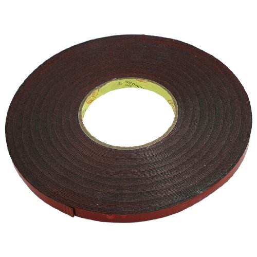 uxcell 10mm Width 30M Length Red Film Foam Double Sided Tape for Car Auto
