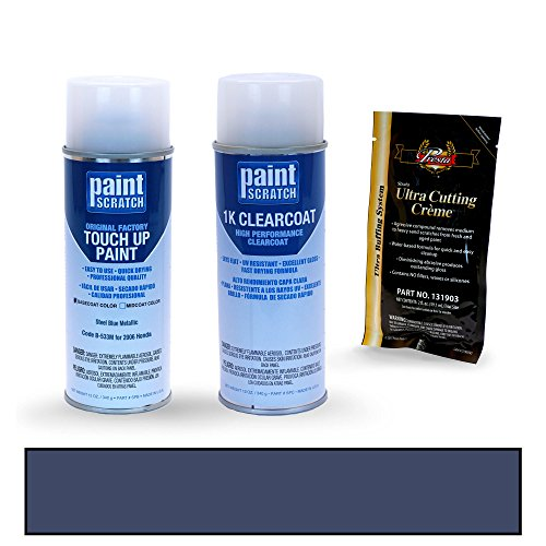 PAINTSCRATCH Steel Blue Metallic B-533M for 2006 Honda Pilot - Touch Up Paint Spray Can Kit - Original Factory OEM Automotive Paint - Color Match Guaranteed - Factory Spray Paint