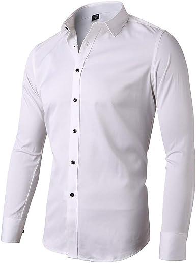 SANMIO Hombre Camisa Slim Fit de Manga Larga Camisas Ocio Boda Trabajo fácil de Planchar Business gr s de 2 x l, 10 Colores, Hombre, SA59, Beige, L (Etikette 42): Amazon.es: Deportes
