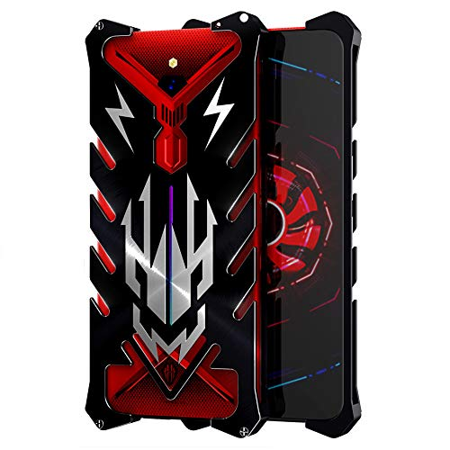 Case for Nubia Red Magic 3 Armor Aviation Aluminum Metal Powerful Outdoor Case for Red Magic3 Shockproof CNC Anodize (Black)
