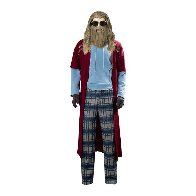 Tanwenling33 Disfraz de Thor Hombre para Adulto Peluca de Thor ...