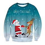 Product review for MLG Men's Loose Fit Crewneck Christmas Printed Wild Tracksuit