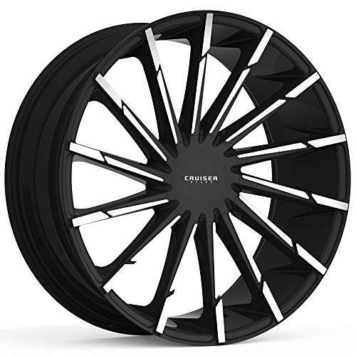 Cruiser Alloy 924MB Stiletto 20x9 6x135/6x139.7 +25mm Black/Machined Wheel - Online Stiletto