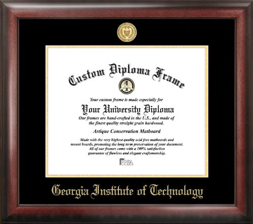 Campus Images GA974GED Georgia Institute of Technology Embossed Diploma Frame, 14