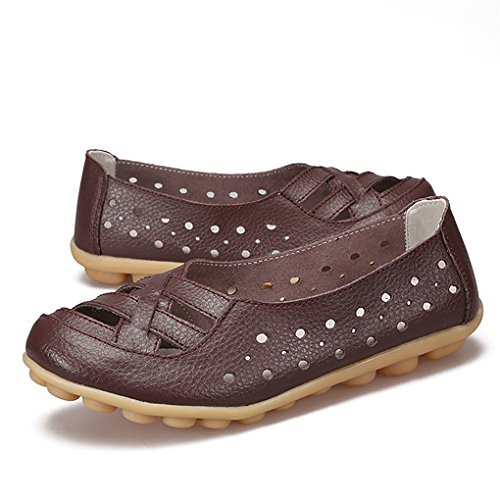 Respirable Yy Café Lady Casual Lady's Pu rui On Loafers Slip Fashion Driving HWwA4qSnW
