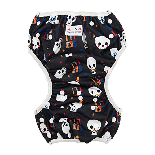 ALVABABY Swim Diapers 2pcs One Size Reuseable & Adjustable 0-24 mo. 10-40lbs Baby Shower Gifts SW31-32