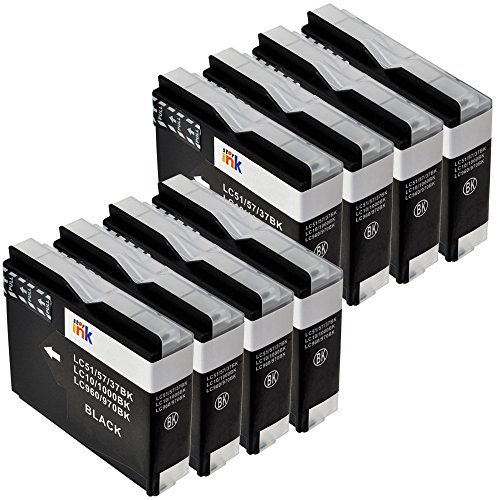 Starink LC51 Ink Cartridge Compatible Brother LC 51 Series Replacement for MFC-240C MFC-3360C MFC-440CN MFC-465CN MFC-5460CN MFC-5860CN MFC-665CW MFC-685CW MFC-845CW (8 Black, LC51BK)