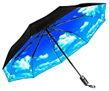 Repel Easy Touch Umbrella 11.5-Inch DuPont Teflon Travel Umbrella, Blue Sky