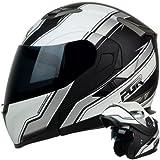 modular helmet pgr - COMPETITION Matte White Black