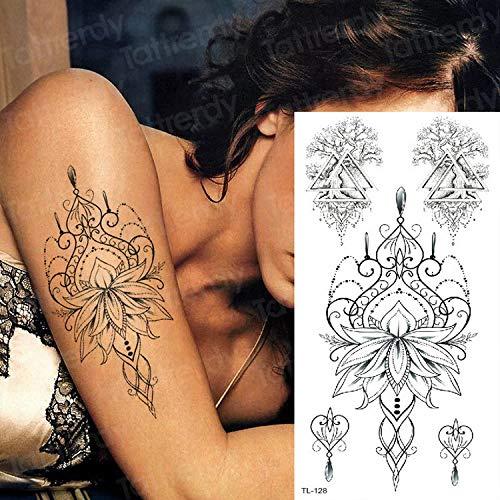 Handaxian 3 Piezas Tatuaje Pegatina Impermeable Tatuaje Chica ...