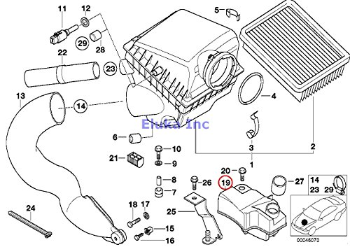 - BMW Genuine Fuel System Intake Muffler Resonator 740i 740iL 540i 540iP