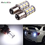 MBS 2 x White 1157 Base 18 SMD 5050 LED Replacement Bulb For RV Car Brake Light Lamp Backup Lamps Bulbs Day Running Light 12V