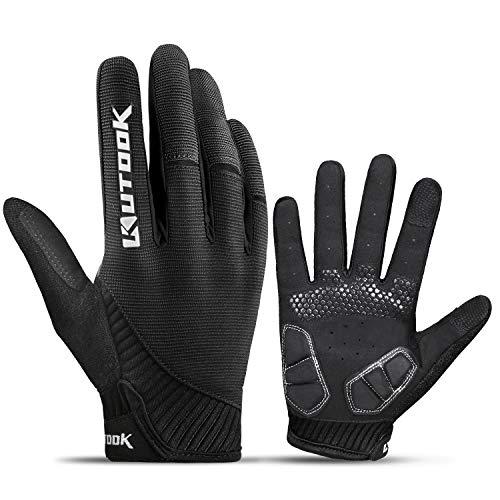 KUTOOK Fietshandschoenen Antislip En Schokabsorberende Gel MTB-handschoenen Met Touchscreen Vingers Voor Fietsen…