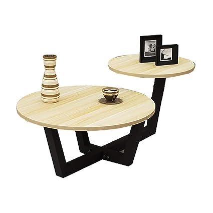 Ynn Table Mesa De Centro Redonda 2 En 1 Mesa Auxiliar Sofa Moderno