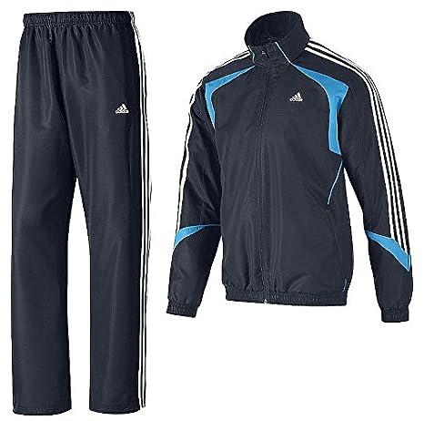 adidas Herren Trainingsanzug TS Basic 3 Sreifen Suit (D4 (46