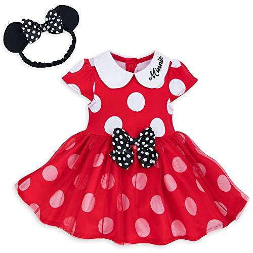 Disney Minnie Mouse Costume Bodysuit for Baby - Red Size 12-18 MO Multi