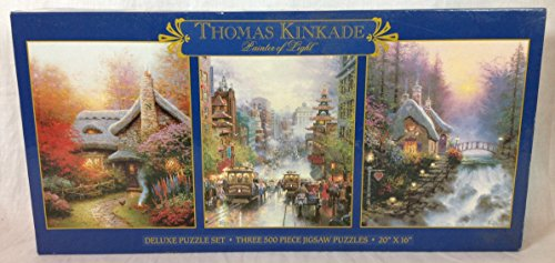 Thomas Kinkade Painter Of Light 3 Deluxe Puzzles Set 20
