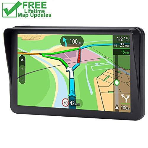 GPS for Car, 7 inches SAT NAV Lifetime Map Update Spoken Turn-to-turn Navigation System for Cars, Vehicle GPS Navigator