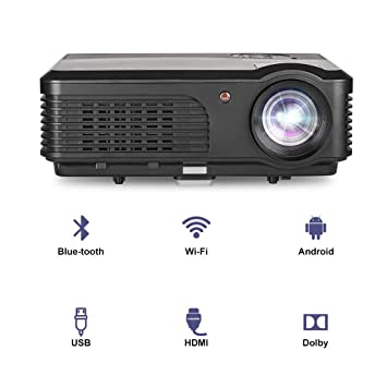 LED HD 1080P Inicio WiFi Proyector Bluetooth LCD 4200 lúmenes WXGA Android Proyector inalámbrico Bluetooth HDMI
